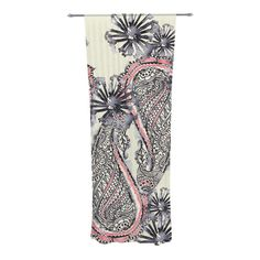 Found it at Wayfair - Inky Paisley Bloom Curtain Panels