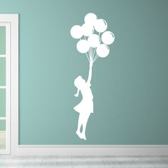 Go to the skies with our Balloon Girl! She makes the perfect touch to any wall. Select the size and...