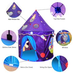 Mother & Kids Generous Cute Children Kid Balls Pit Pool Game Play Tent Indoor Outdoor Gaming Toys Hut For Baby Toddlers High Quality Superior Materials