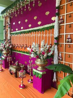 Floral Trending Decor DecorbyKrishna is taking orders for eco-friendly home based events decor, like Housewarming Decorations, Diy Diwali Decorations, Wedding Stage Decorations, Backdrop Decorations, Flower Decorations, Backdrops, Wedding Themes, Home Flower Decor, Naming Ceremony Decoration