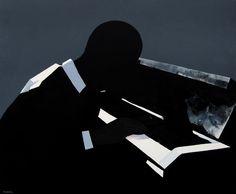 "Saatchi Online Artist: Jarek Puczel; Oil, 2009, Painting ""Pianist"""