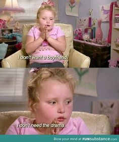 Honey boo boo knows whats up