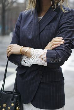 aimee_song_of_style_pinstripe_blazer_lace_dress