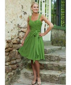 Prinzessin Knie-Länge mit Träger Gürtel Chiffon Erschwinglich Brautjungfernkleid Abendkleider