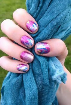 Jamberry Paint Party and Berry Sparkler as an accent nail, Nailart made easy with these wraps, #PaintPartyJN, #BerrySparklerJN,jpg