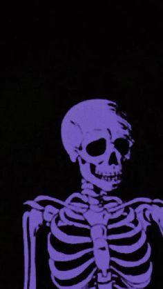 Black And Purple Wallpaper, Sassy Wallpaper, Skull Wallpaper, Bad Girl Wallpaper, Purple Wallpaper Iphone, Iphone Wallpaper Tumblr Aesthetic, Dark Wallpaper, Aesthetic Art, Aesthetic Anime