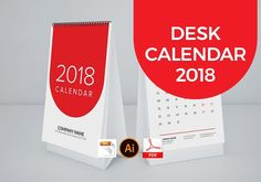 Deask Calendar 2018 (NEW) by graphicbox on @creativemarket