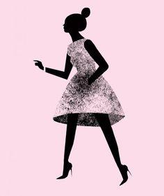 fashionsketch por karolin schnoor Vía illustrationfriday.com