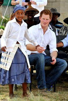 Prince Harry Visits Lesotho. Sweetness.
