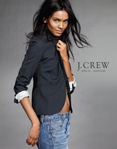 Love the crew Alexandre Vauthier, Style Casual, Style Me, Celeb Style, J Crew Model, J Crew Catalog, Blazers, Liya Kebede, Catalog Cover