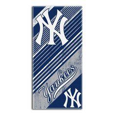 New York Yankees MLB Fiber Reactive Beach Towel (Diagonal Series) (28in x 58in)