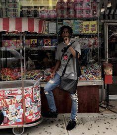 Image about fashion in playboi carti 🤤 by dee Black Men Street Fashion, Mens Fashion, Cardi B Pics, Mode Hip Hop, Rapper Outfits, Hip Hop Art, Lil Uzi Vert, Lil Pump, Prada