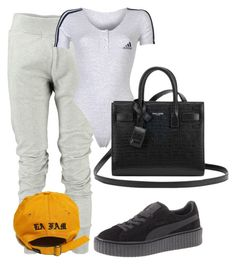 """Untitled #162"" by joeantoinedylan ❤ liked on Polyvore featuring MM6 Maison Margiela, adidas, Puma and Yves Saint Laurent"