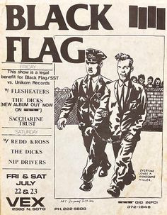 Rock Posters, Band Posters, Concert Posters, Raymond Pettibon, Punk Poster, New Museum, Comic Pictures, Punk Art, Art Music