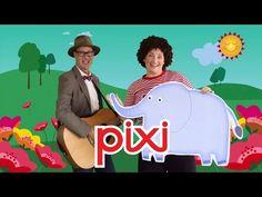 En elefant kom marcherende | Børnesang med fagter | Pixitrolden og Guitar-Krelle - en rigtig pixi - YouTube