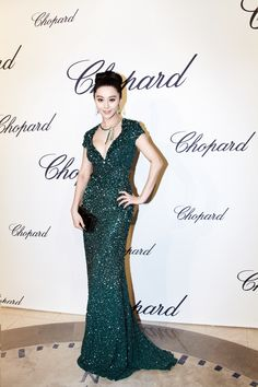 Fan Bing Bing in ELIE SAAB Ready-to-Wear Fall 2012-13 at the Trophée Chopard Event at the Cannes Film Festival.