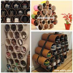 DIY Shoe Rack | instead of tripping over all of your shoes, you can have a clear path across your room. Also, you'll be able to find them when you need them! This makes much more sense than what I do now (kick them off wherever and then keep tripping over them)