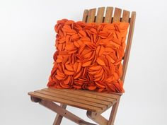 18 Inch Orange Leaves Decoration Throw Pillow, Novelty Cover Pillow  | homeB - Housewares on ArtFire