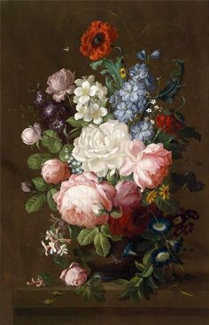 Floral Painting, Flower Paintings, Oil Painting Flowers, Art Floral, Life Dutch, Life Painting, Flowers Art, Handmade Flowers, Vanitas Artwork