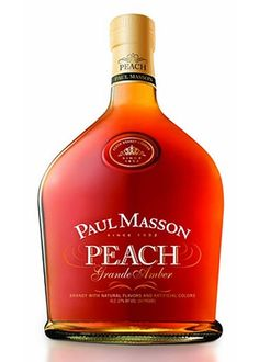 $12.99  PAUL MASSON PEACH BRANDY 750ML - I taste the sweetness of the peach and the depth of a brandy.  There is no heavy burn, as the peach flavor cuts down the alcohol levels, but I get the full flavor of what is trying to be delivered. Serve with ginger ale or juice, GOT THIS