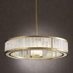 Rockcrystal chandelier / Galerie Glustin