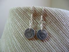 Light as a feather!  Cute as a button.    Tiny Sterling Silver Leaf Print Earrings by MandyLemig on Etsy, $25.00