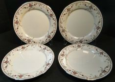 """Noritake Adagio Dinner Plates 7237 10 5/8"""" Set of 4 