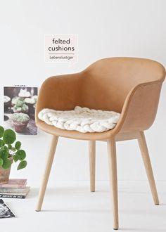 DIY felted cushions