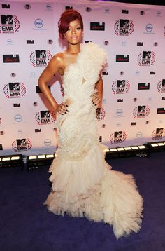 Rhianna in Marchesa