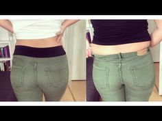 DIY SLIMMING /SHAPING JEANS I HOW TO LOOK INSTANTLY THINNER I Marina Si - YouTube Fashion Sewing, Diy Fashion, Sewing Hacks, Sewing Tutorials, Make Skinny Jeans, Diy With Jeans, Diy Jeans, Sewing Alterations, Sewing Elastic
