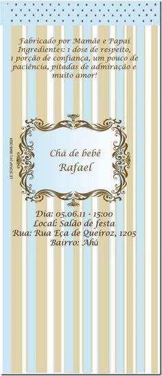 Convite Cha de bebe rafael
