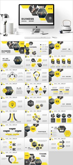 yellow business annual plan PowerPoint Template on Behance … Powerpoint Poster Template, Simple Powerpoint Templates, Professional Powerpoint Templates, Keynote Template, Infographic Powerpoint, Poster Layout, Design Sites, Business Design, Business Company