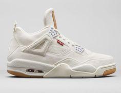 "91620bcdeb8f75 Levi s x Air Jordan 4 ""White Denim"" Jordan 4"