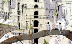 Tsutomu Nihei - Knights of Sidonia (Shidonia no Kishi) Knights Of Sidonia, Pretty Drawings, Manga Pages, Environment Design, Illustrations, Art Google, Decoration, Art Girl, Art Inspo