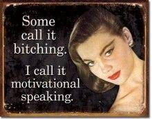 $19.97 Motivational Speaking Tin Sign