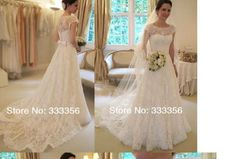 Vestido de noiva em A com renda