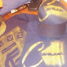 Cavewear hat n shirt black n gold Accessories