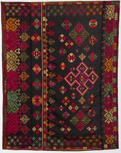 Wedding Shawl from Kohistan (North Pakistan) employing Phulkari Embroidery