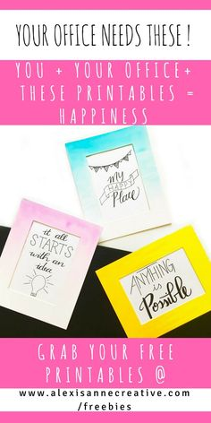 Instant inspiration, motivation and happiness. 3 ready to print PDFs are waiting for you- just click through to grab yours.