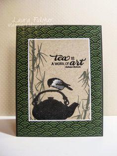 Laura's Stamp Art Journal: IO Challenge- Happy Flowers