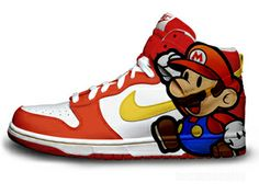 pretty nice 02a9f 9e172 Japanese Video Game Super Mario Sneakers Nikes Best Sneakers, Sneakers Nike,  Cute Nikes,