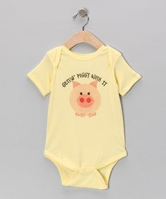 Take a look at this Banana 'Gettin' Piggie With It' Bodysuit - Infant by American Classics on #zulily today!