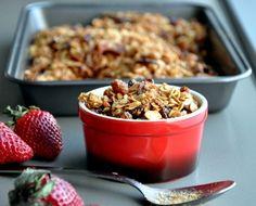 Crunchy and hearty homemade granola.