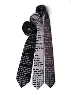 Morse Code necktie. Dot and Dash, telegraph men's tie. Ham radio gift, amateur radio, computer science, military history, aviation & more.