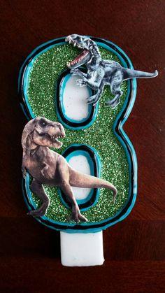 Vela de cumpleaños de dinosaurio