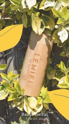Das #Bambusetui von #LEMIEL für #Sonnenbrillen, #Brillen, #Stifte, #Schätze, #Kleingeld, #Schminkpinsel Voss Bottle, Water Bottle, Tree Planting, Sunglasses, Pens, Things To Do, Water Flask