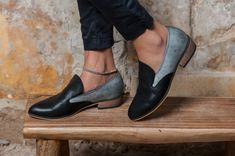 Black/wooden Leather shoes                                                                                                                                                                                 More