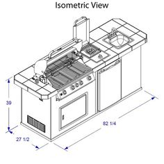 outdoor kitchen dimensions - Google Search