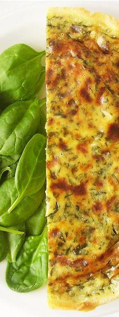 Rustic Vegetarian Spinach Tart – Mediterranean dish at its best !