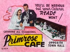 Primrose Cafe, Swanston Street Melbourne Town Hall 4, Australian Vintage, Vintage Posters, Melbourne, Old Things, Cinema, Ads, Street, Poster Vintage